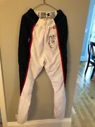 Horace Grant Game Used 1991 Signed Warm Up Pants Coa Bulls Letter With Tags