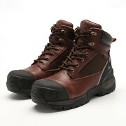 Menand039s Work Boots Composite Toe Anti-water Oil Puncture Best True Leather Quality