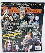 Slipknot Band Autographed Rolling Stone Magazine Signed By All 9 Beckett Bas Coa