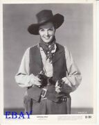 Jane Russell In Cowboy Garb And W/2 Pistols Vintage Photo Montana Belle