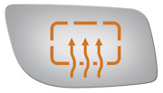 New Convex Passenger Side Power Replacement Mirror Glass For 2009 Lincoln Mks
