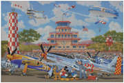 Disney Fine Art Limited Edition Canvas A Salute To The Sky-mickey-hernandez