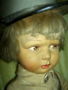 Exceptional Rare Antique Raynal Paris France Military Soldier Jointed Cloth Doll