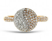 2.05ct Natural Round Diamond 14k Solid Yellow Gold Cluster Ring Size 7