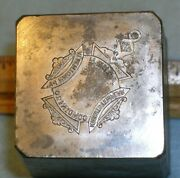 Antique Allentown Pa Commandery Knights Templar Watch Fob Stamping Die Mc Lilley