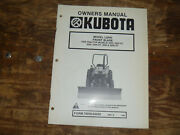 Kubota L2040 Front Blade For Tractor 2850 2850dt Operator Maintenance Manual
