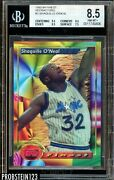 1993-94 Topps Finest Partial Refractor Error Shaquille Oand039neal Super Rare Bgs 8.5