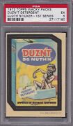 1973 Topps Wacky Packages Cloth Duznand039t Detergent Psa 5 Ex Series 1 Packs