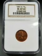 1952 D Lincoln Wheat Cent Penny Coin Ms67 Ngc Red Rd Gem Bu Uncirculated