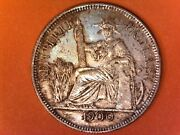1900a French Indo-china Piastre De Commerce Coin Silver Francaise .900 27g Tone