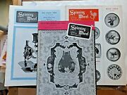 3 Issues-1964 Spinning Wheel Antiques Mags- Buttons Sewing Machines Rosettes..