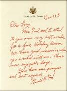 Gerald R. Ford - Autograph Letter Signed 12/18