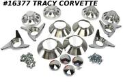 1966 Corvette Direct-bolt Knock-off Hardware Car Set Complete Brushed Cones