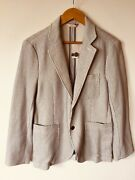 New Brooks Brothers Stretchy Sport Coat S Summer Cotton White Pinstripe 248