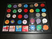 Vintage Casino Clay Chip Salesman Samples And Others Collection W Display