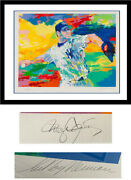 Roger Clemens Signed 30x37 Framed Leroy Neiman Serigraph New York Yankees Auto