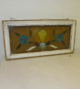 Smaller Antique Stain Glass Window With Jewels