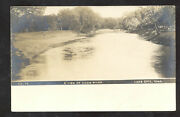 Rppc Lake City Iowa Coon River View Vintage Real Photo Psotcard
