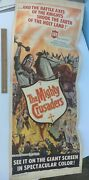 1960 The Mighty Crusaders Insert Poster 36 X 14 Original