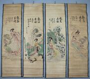 China Calligraphy Paintings Scrolls Chinese Painting Scroll Four Screen A