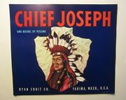 Wholesale Lot Of 50 Old Vintage - Chief Joseph - Apple Crate Labels - Indian