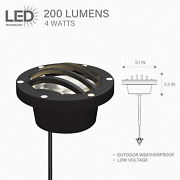 Malibu Led 4w In Ground Well Lights Low Voltage Landscape Lighting For Driveway
