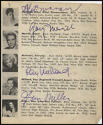 Ethel Merman - Book Page Signed With Co-signers