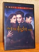 The Twilight Saga Complete 5-movie Collection Dvd 2016 2-disc Set New Vamps