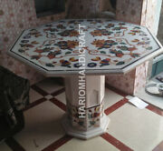 30 White Marble Coffee Table Top With Stand Grill Multi Floral Inlay Art E565a1