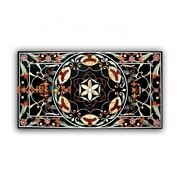 5and039x3and039 Dining Table Marble Top Mosaic Precious Inlay Art Interior Decoration B350
