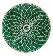 Malachite Marble Dining Table Top Geometrical Marquetry Inlay Home Decors E893