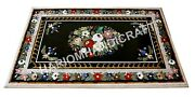 4and039x2and039 Marble Dining Table Top Rare Inlaid Mosaic Marquetry Patio Furniture H1653