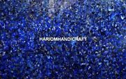 Random Lapis Mosaic Marble Dining Table Top Inlay Collectible Kitchen Decor M367