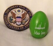 2 Trump = White House Easter Egg Green 2018 And Eagle Seal Magnet President Two Pc