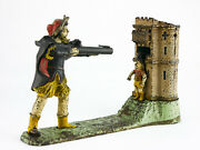 1875 - William Tell Mechanical Bank - Early Edition Marked Patent Applied For