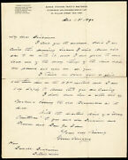Grover Cleveland - Autograph Letter Signed 12/15/1890