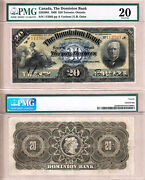 Early Date 1909 20 Dominion Bank Td Bank 220-20-04. Pmg Vf20