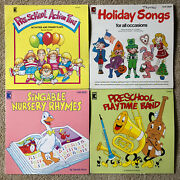 Holiday Songs Pre School Action Playtime Band Nursery Rhymes Kimbo Lp Lot X4 Vg+
