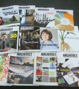12 Issues Architect Hanley Wood Magazine Architecture 2009 Aia Design Full Year