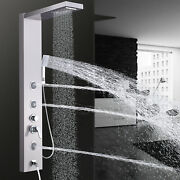 Brushed Rainfall Waterfall Shower Towel Panel Body Jets W/hand Spray Tub Faucet