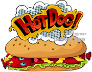 Hot Dog Decal Choose Your Size Hot Dogs Food Truck Concession Vinyl Sticker