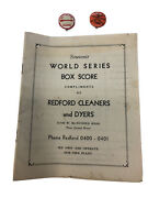 1945 World Series Champions Box Score Program And Pin Lot Tigers Vs Chicago Cubs
