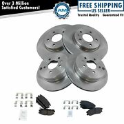 Brake Pads And Rotor Semi-metallic Front And Rear Kit For Chevy Equinox Torrent