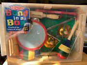 Melissa And Doug 488 Band-in-a-box Clap Clang Tap 10 Piece Set And Wooden Crate