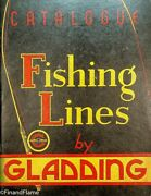 Vintage 26 1930and039s Gladding Antique Fishing Line Catalog 31 Pages Sje350