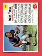 1962 Post Cereal Football Card Frank Youso Minnesota Vikings Cut Inside Lines