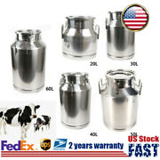 Milk Can Pail Stainless Steel Beer Bucket Jug Oil Barrel Canister Silicone Seal