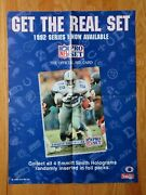 1992 Promotional Pro Set Cards Emmitt Smith No. 22 Dallas Cowboys Poster