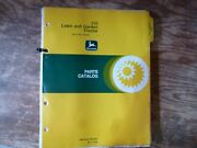 John Deere 110 Lawn And Garden Tractor Parts Catalog Manual Pc-1276 S/n 250001-up