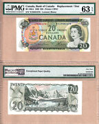 1969 20 Bc-50ba Ez Replacement Bank Of Canada Note Pmg Choice Unc63 Epq